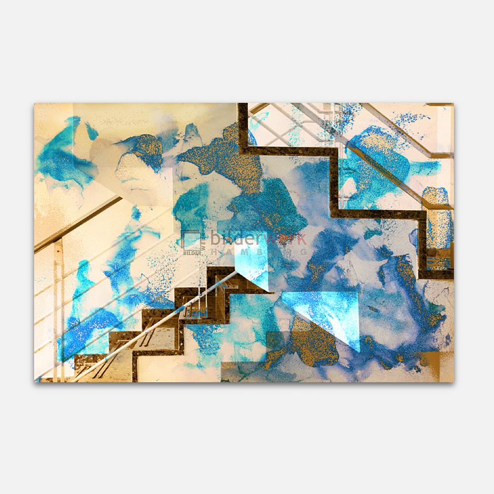 Blaue Treppe 1
