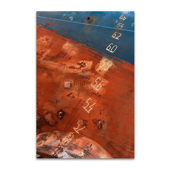 Schiffszahlen auf Rotblau