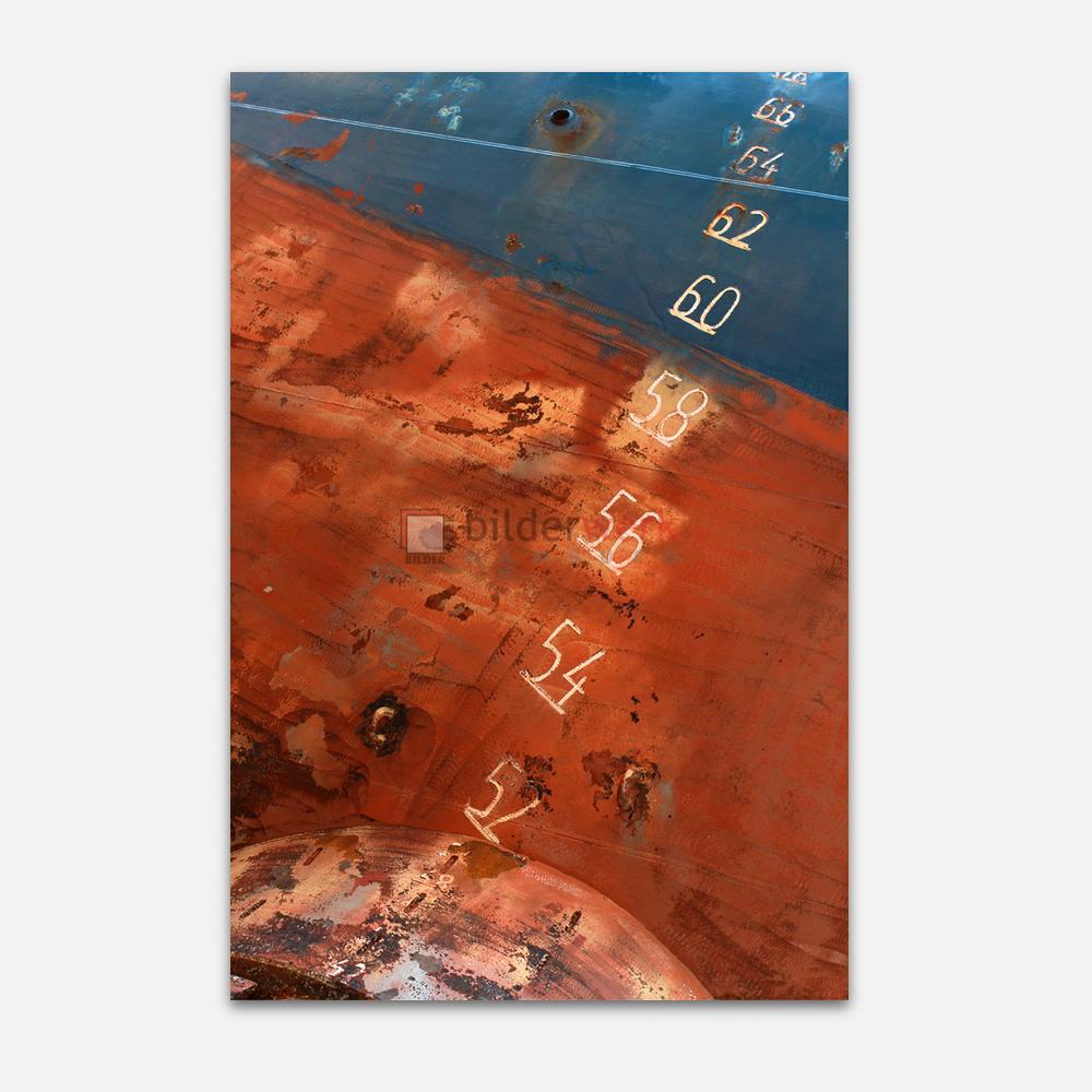 Schiffszahlen auf Rotblau 1