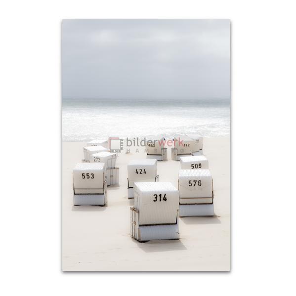 Weisse Strandkörbe