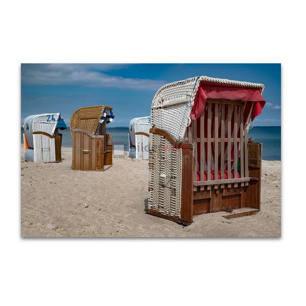 Verschlossene Strandkörbe