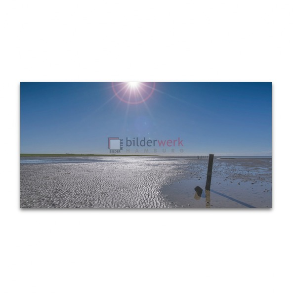 Sonne über dem Wattenmeer
